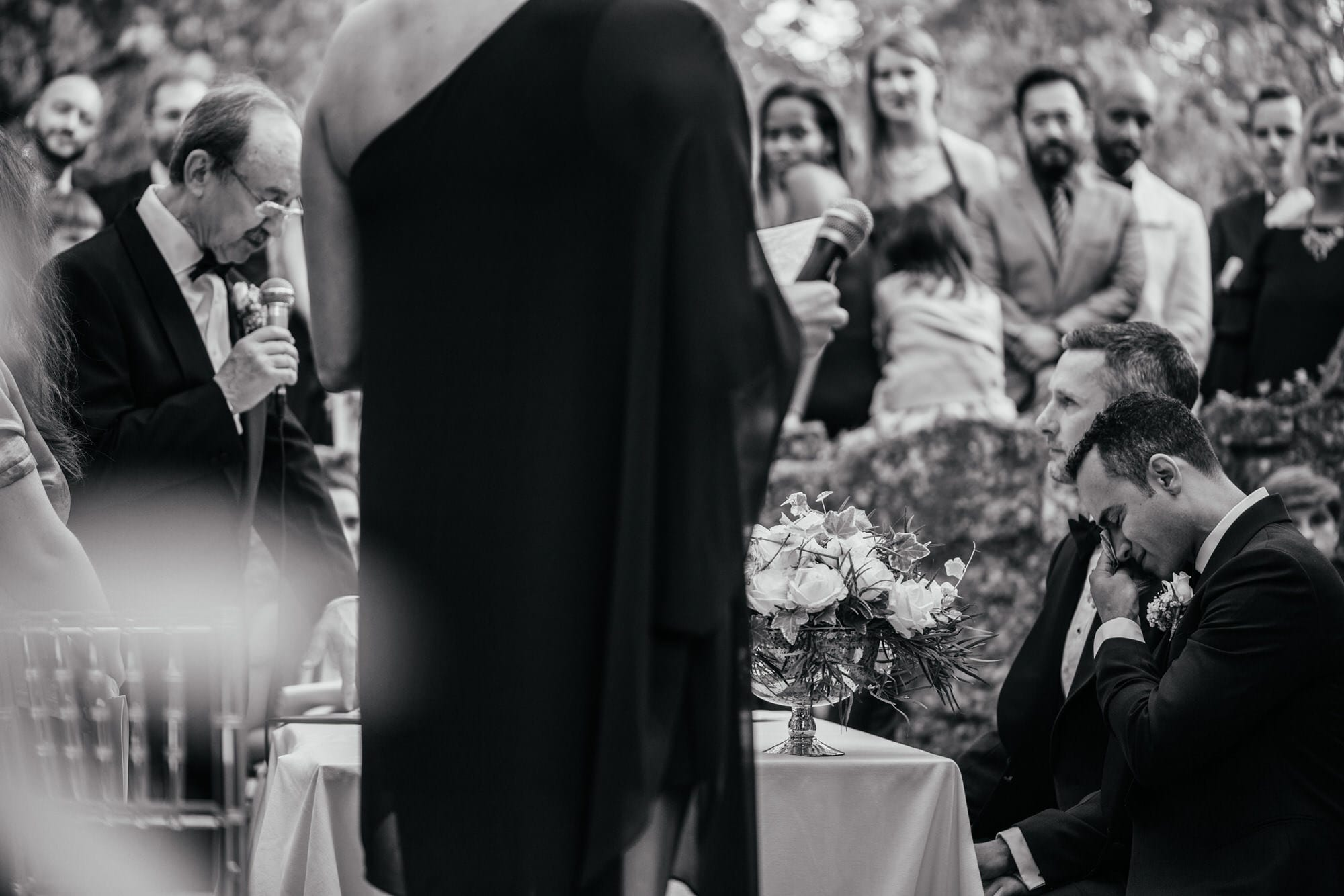 An emotional moment during a wedding in Lisbon, Portugal