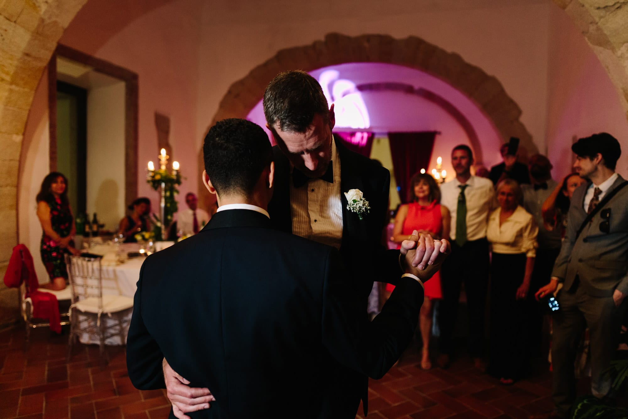 The grooms' first dance on their wedding day | Photo by Lisbon Photographer Your Story in Photos