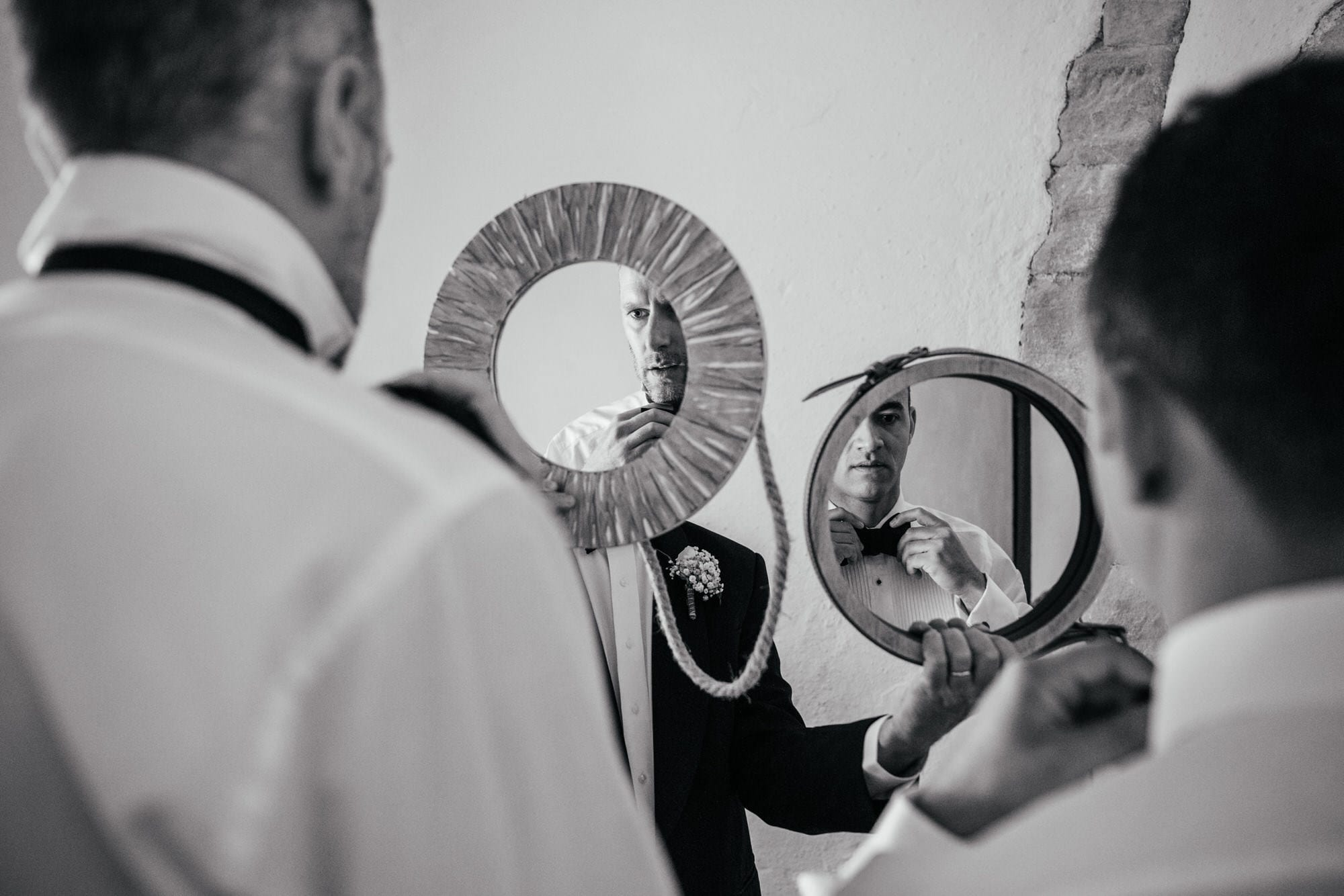 Gay destination wedding in Lisbon | Grooms getting ready for the ceremony on their wedding day